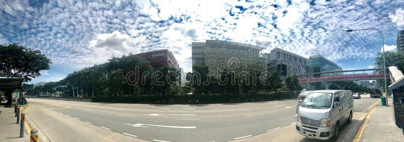 Tai seng cloudy sky offices building stock photography