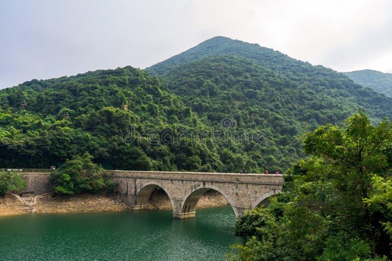 Tai Tam Reservoir en el Monte Parker, Hong Kong fotos de archivo