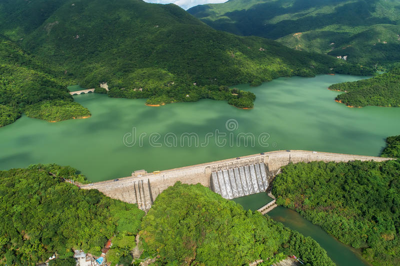 Tai Tam Tuk Reservoir. The construction of Tai Tam Tuk Reservoir was commenced in 1912 and completed in 1918. When the Tai Tam Tuk Reservoir was completed, the stock photo
