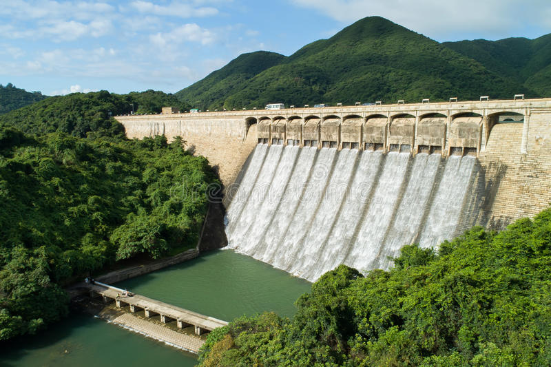 Tai Tam Tuk Reservoir. The construction of Tai Tam Tuk Reservoir was commenced in 1912 and completed in 1918. When the Tai Tam Tuk Reservoir was completed, the royalty free stock photos