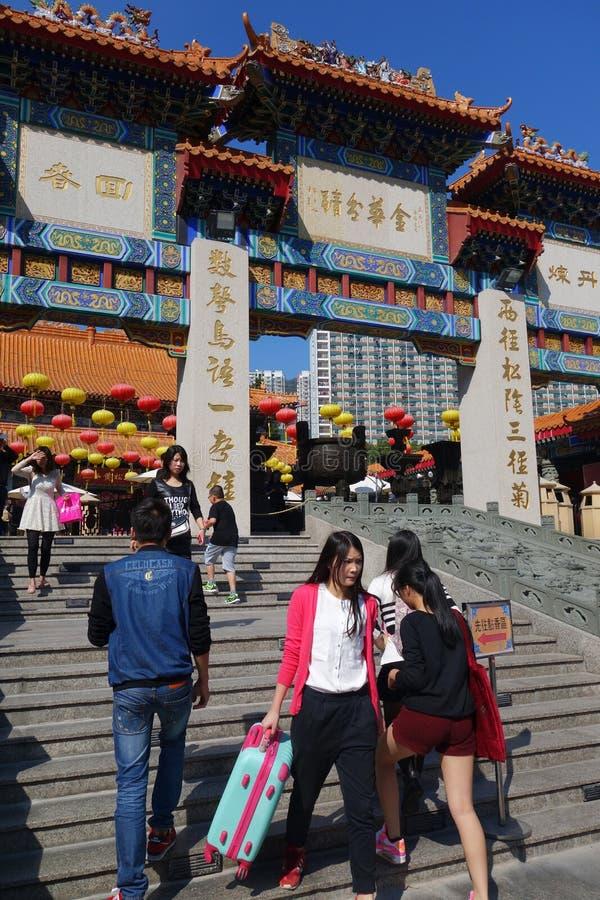 Tai van Wong de tempel van de Zonde, Hongkong royalty-vrije stock fotografie