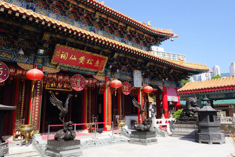 Tai van Wong de tempel van de Zonde, Hongkong stock foto