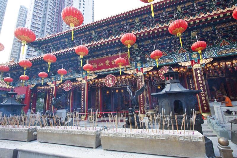 Tai van Wong de Tempel van de Zonde in Hongkong bij dag royalty-vrije stock afbeelding