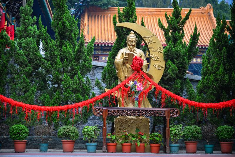 Tai van Wong de Tempel van de Zonde in Hongkong royalty-vrije stock foto's