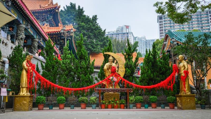 Tai van Wong de Tempel van de Zonde in Hongkong stock foto