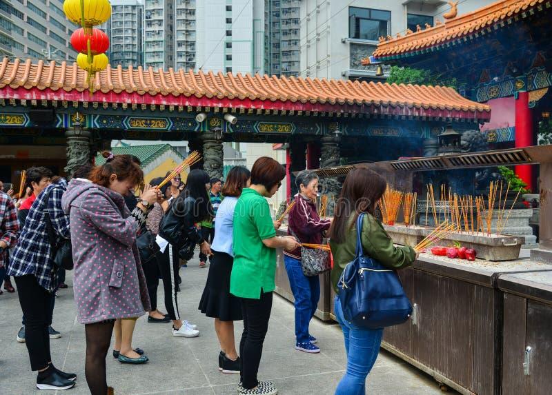 Tai van Wong de Tempel van de Zonde in Hongkong royalty-vrije stock foto