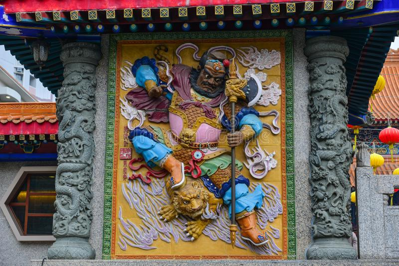 Tai van Wong de Tempel van de Zonde in Hongkong stock afbeelding