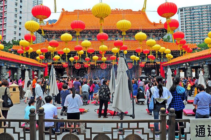 Tai van Wong zondetempel Hongkong royalty-vrije stock foto
