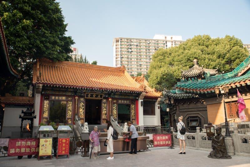 Tai Wong ο ναός αμαρτίας κάλεσε επίσης Sik Sik Yuen το Chinese ναό στο Χονγκ Κονγκ στοκ εικόνα με δικαίωμα ελεύθερης χρήσης