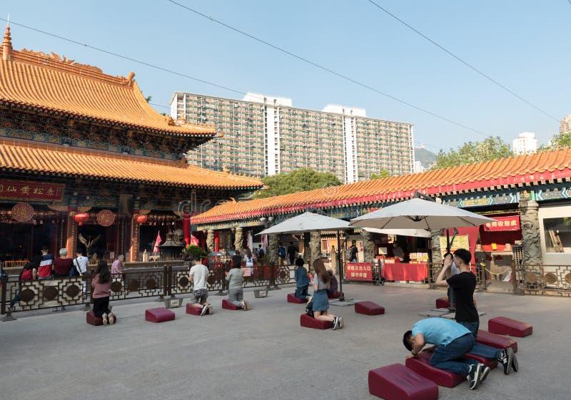 Tai Wong ο ναός αμαρτίας κάλεσε επίσης Sik Sik Yuen το Chinese ναό στο Χονγκ Κονγκ στοκ φωτογραφία