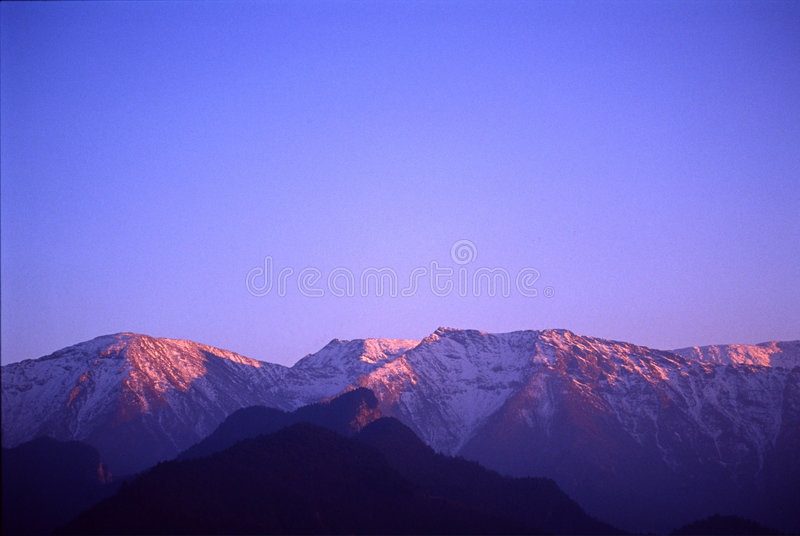 Download Taibai Mountain stock photo. Image of blue, sunup, cloud - 3408484