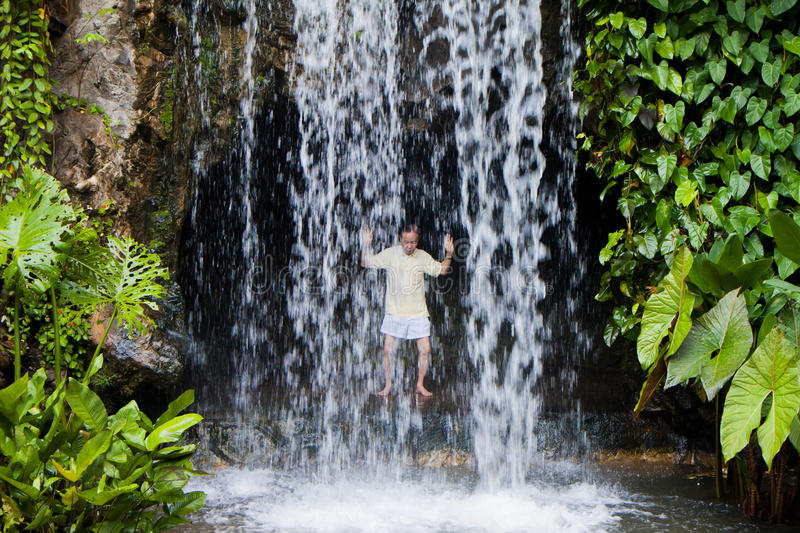 Taichi Waterfall royalty free stock image