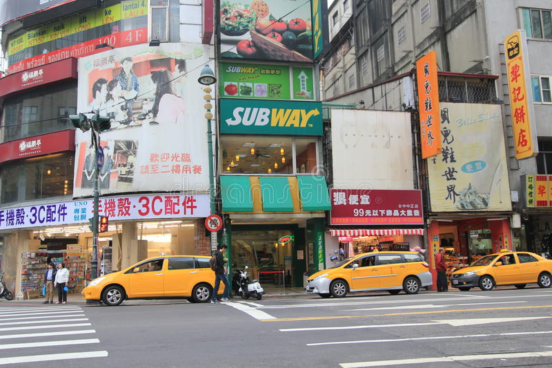 Taichung street view stock images
