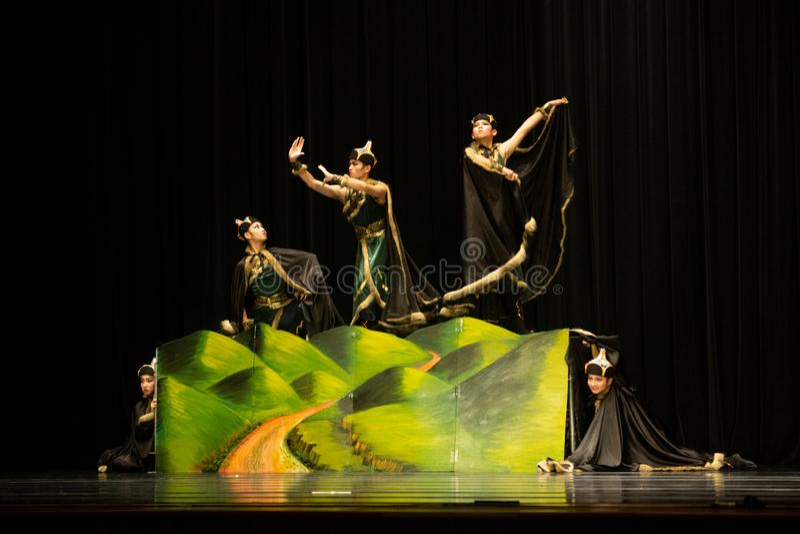Taichung/Taiwan-18 03 2018: De Taiwanese dansconcurrentie tussen tieners stock fotografie