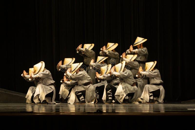 Taichung/Taiwan-18 03 2018: Tajwańska taniec rywalizacja między nastolatkami obrazy stock