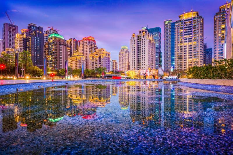 Taichung, Tajwańska linia horyzontu obrazy royalty free