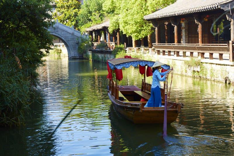 Taierzhuang forntida stad, Kina arkivbilder