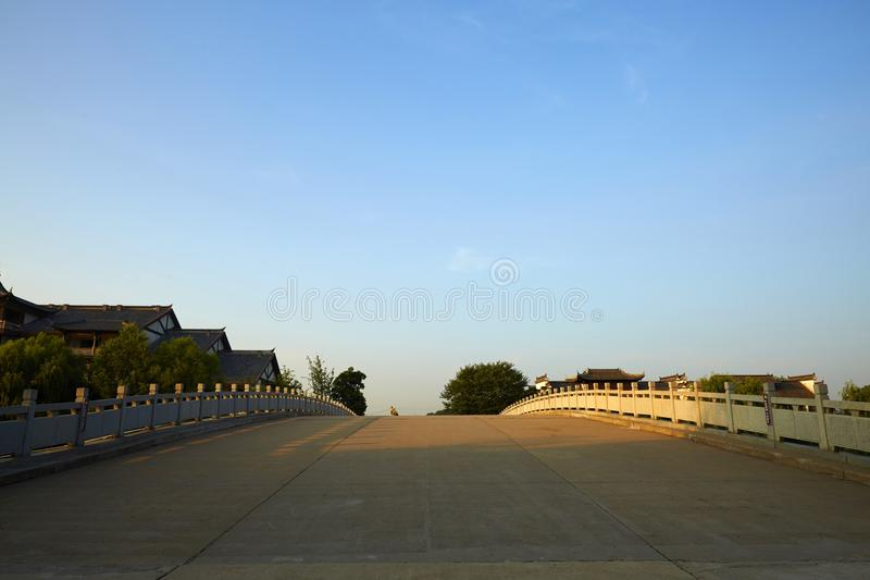Taierzhuang Oude Stad, China stock afbeeldingen