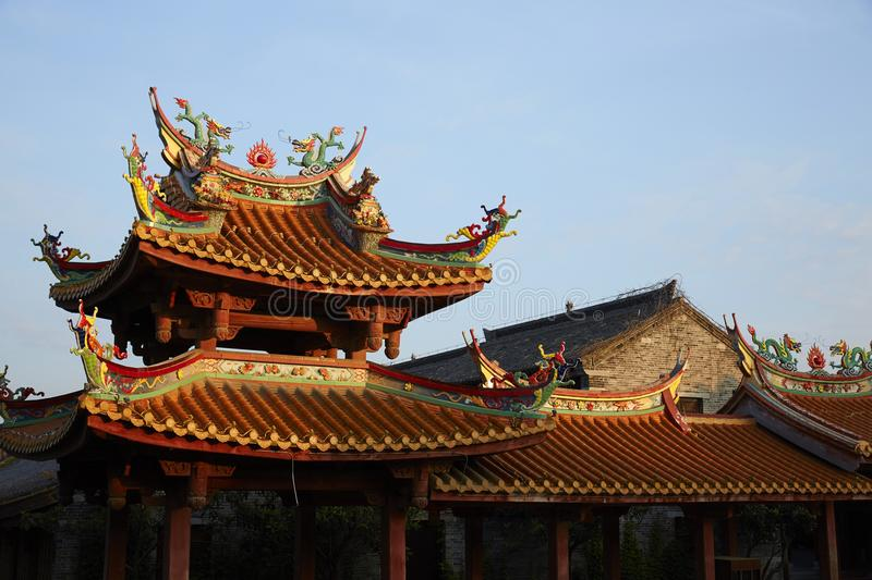 Taierzhuang Oude Stad, China stock foto