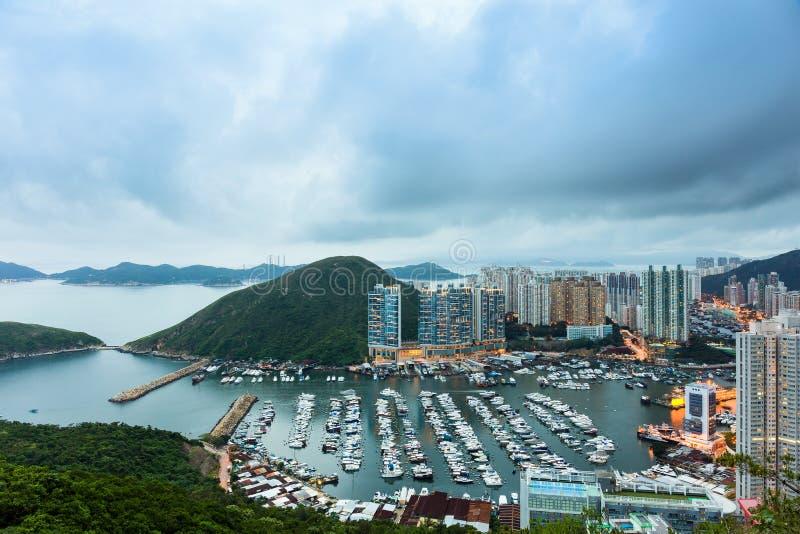 Taifunschutz in Hong Kong stockfotos