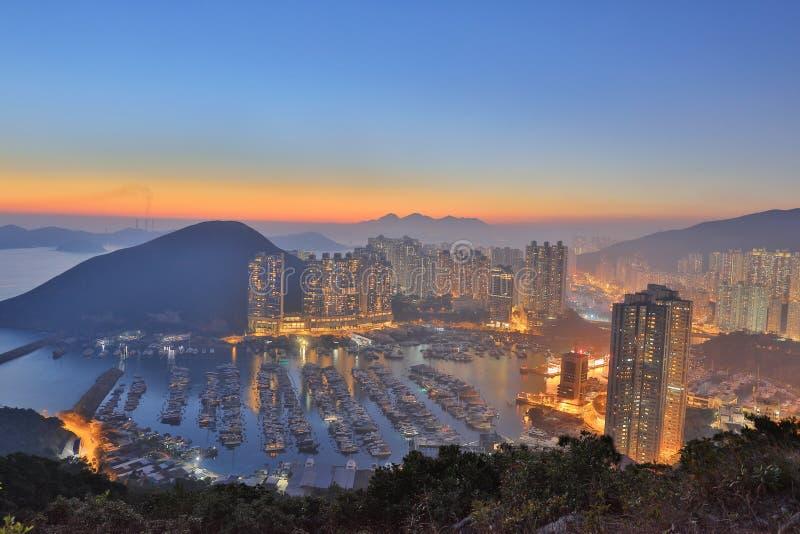 Taifunschutz im Berg in HK lizenzfreie stockfotografie