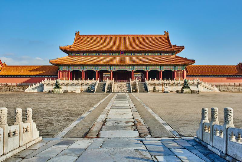 Taihemen port av suveräna Harmony Forbidden City arkivbild