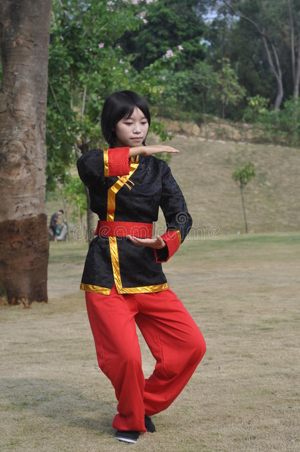 Taiji Mädchen stockfoto