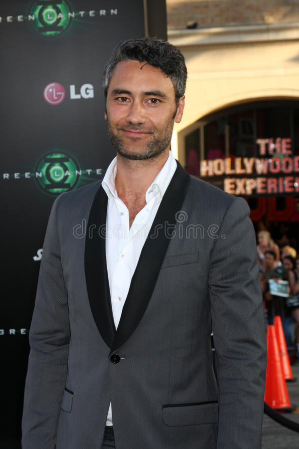 Taika Waititi. LOS ANGELES - JUN 15: Taika Waititi arriving at the Green Lantern Premiere at Grauman's Chinese Theater on June 15, 2011 in Los Angeles, CA royalty free stock photos
