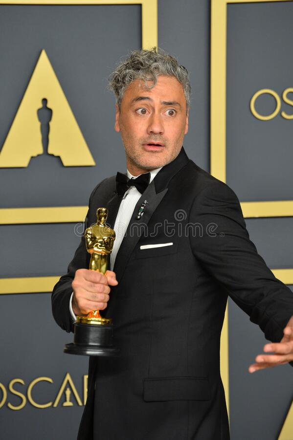 Taika Waititi. LOS ANGELES, USA. February 09, 2020: Taika Waititi at the 92nd Academy Awards at the Dolby Theatre..Picture: Paul Smith/Featureflash royalty free stock image