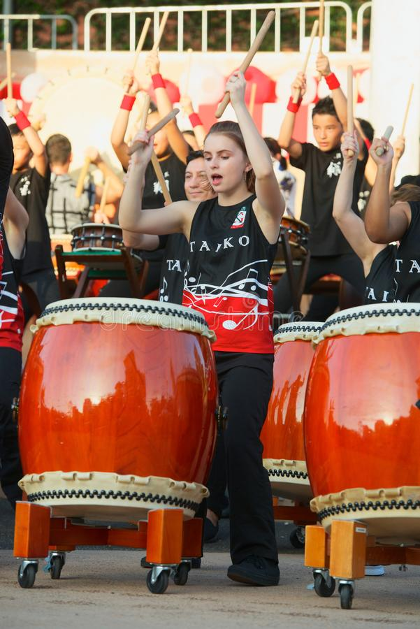 Taiko Drummers stock images