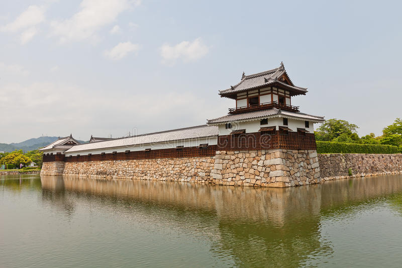 Taikoyagura van het Kasteel van Hiroshima, Japan royalty-vrije stock afbeeldingen