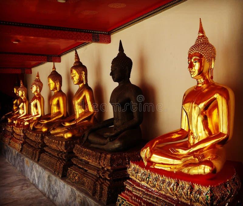Tailândia Budas imagem de stock