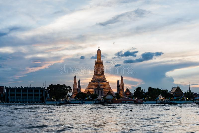 Tailândia despercebida, Temple of Dawn, fotografia de stock royalty free