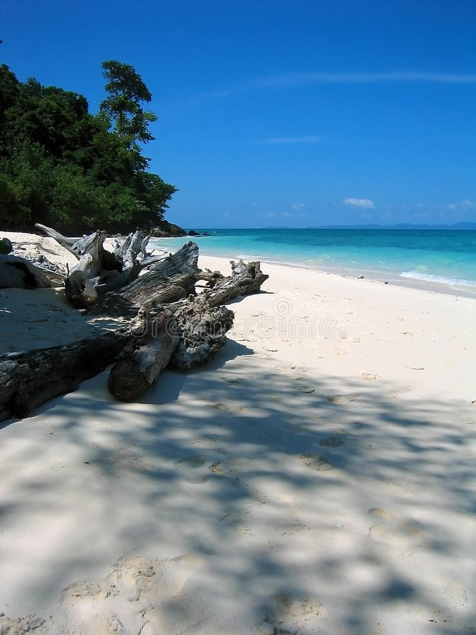 Tailândia - praia II do paraíso fotografia de stock royalty free