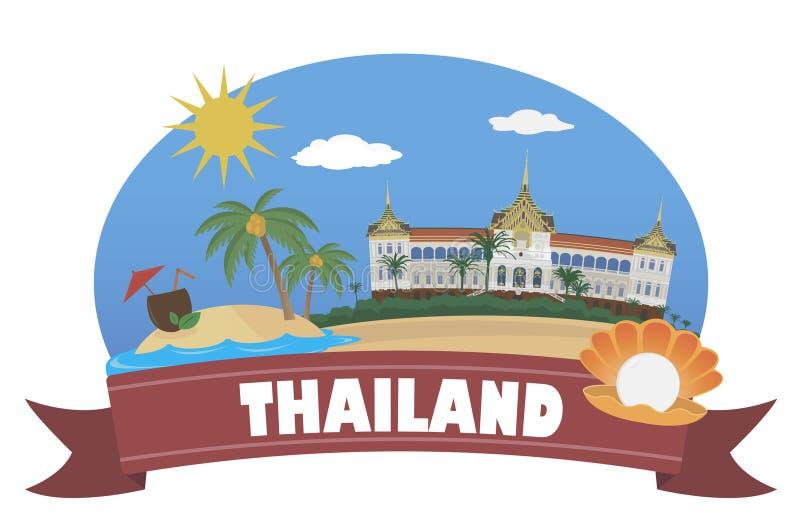 tailândia Turismo e curso ilustração royalty free