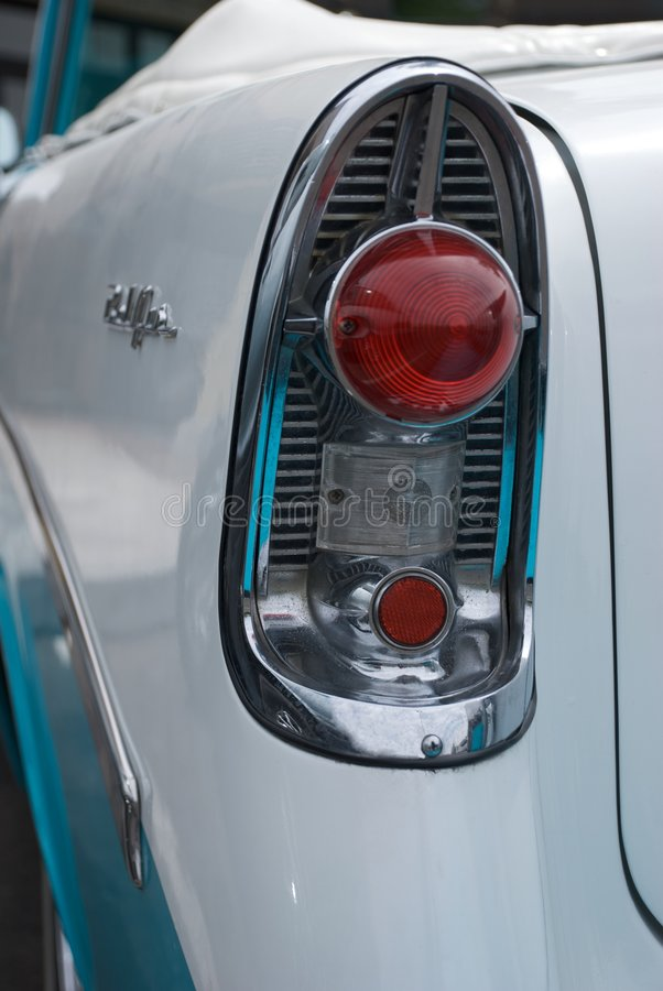 Tail Light Of Classic 1956 Convertible Royalty Free Stock Photography