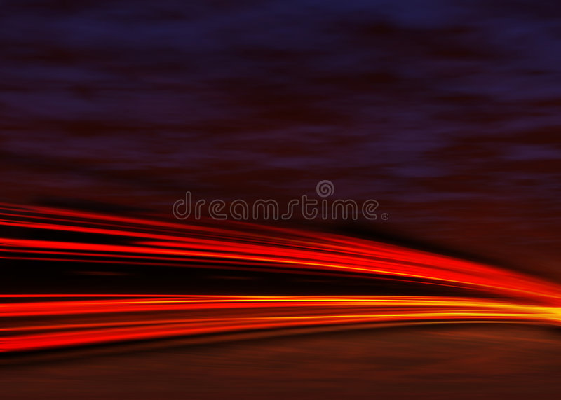 Download Tail Lights At Night Stock Image - Image: 8045201