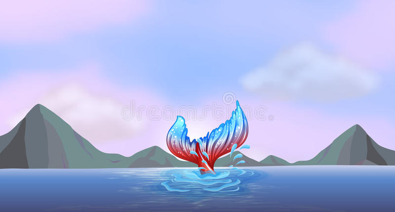 A tail of a mermaid vector illustration