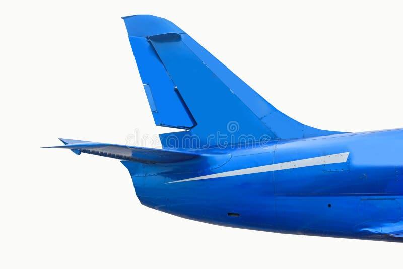 Tail plane on white background stock photo