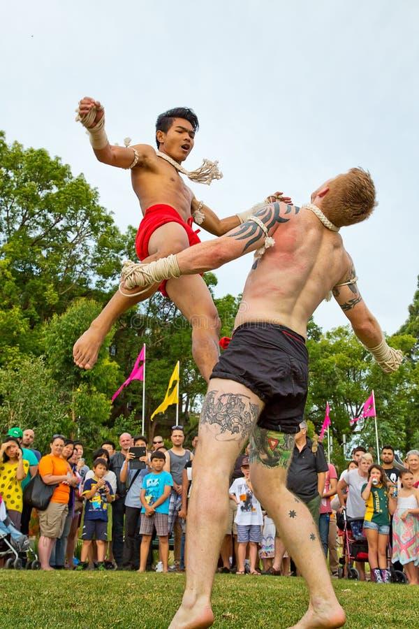 Tailandês de Muay em Parramatta fotografia de stock