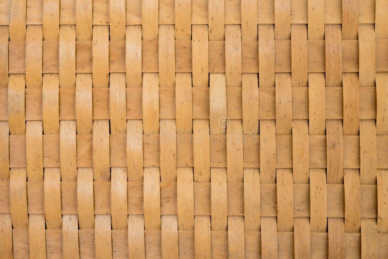 Tailandês handcraft do teste padrão de bambu do weave imagem de stock royalty free
