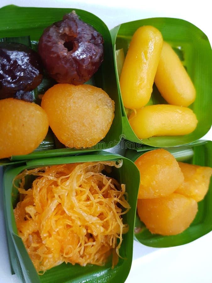 Tailandese delizioso dei dolciumi dolci del dessert fotografia stock libera da diritti
