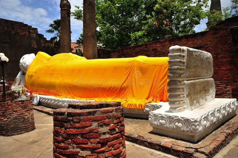 Tailandia Ayutthaya Wat Yai Chai Mongkhon fotos de archivo