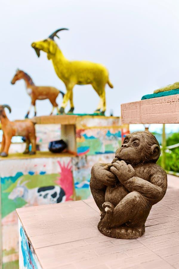 tailandia Estatuas hinese del zodiaco del ¡de Ð en Koh Samui Viaje, turismo imagen de archivo libre de regalías