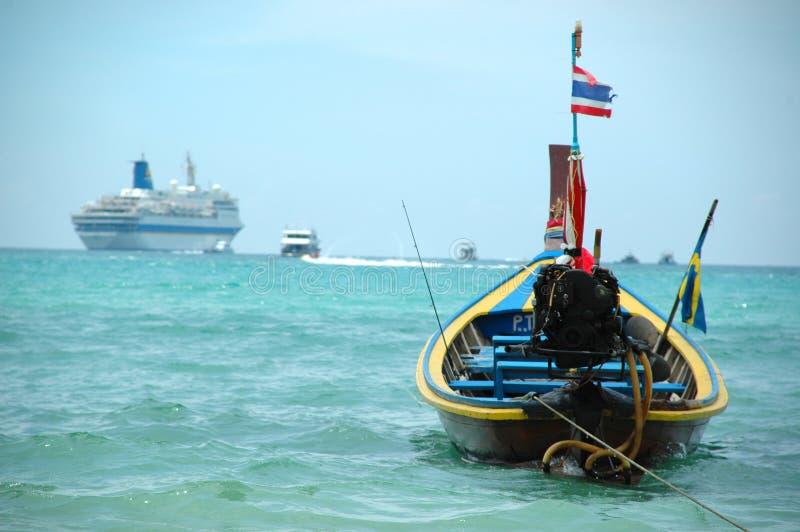 Tailboat und Reiseflug stockbild