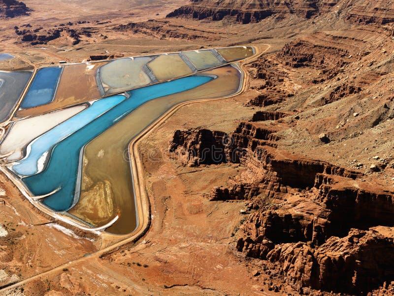 Tailings pond in rural Utah. royalty free stock images