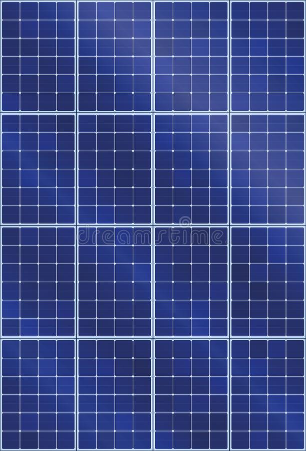 Taille élevée de collecteur de panneau solaire illustration de vecteur