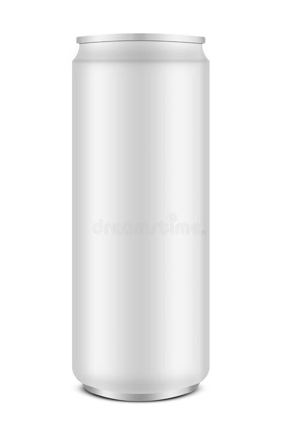 Taille mince de boîte en aluminium images libres de droits