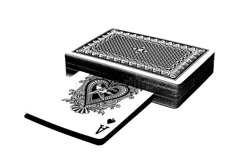 Taille van kaarten royalty-vrije illustratie