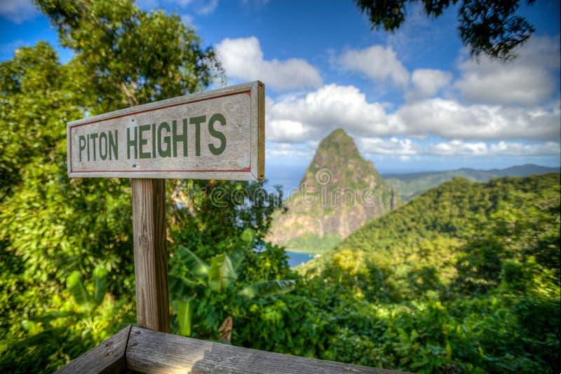 Tailles de piton, St Lucia image libre de droits